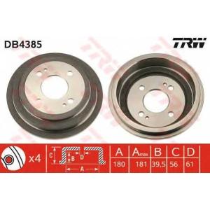 TRW DB4385 Тормозной барабан
