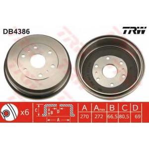 TRW DB4386 Тормозной барабан