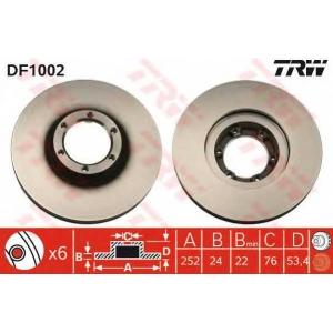 TRW DF1002 Диск тормозной OPEL, RENAULT передн., вент. (пр-во TRW)