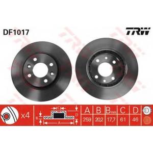 TRW DF1017 Тормозной диск