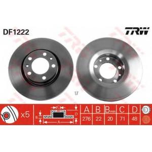TRW DF1222 Диск тормозной CITROEN, PEUGEOT передн., вент. (пр-во TRW)