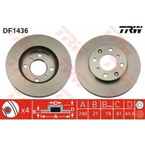 TRW DF1436 Диск тормозной HONDA CIVIC IV передн., вент. (пр-во TRW)