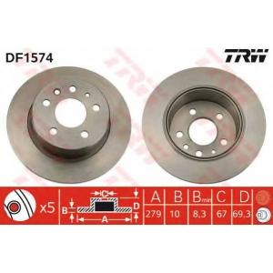 TRW DF1574 Тормозной диск