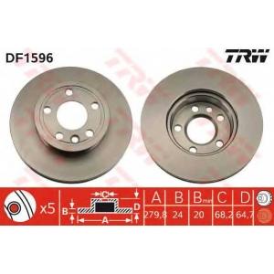 ��������� ���� df1596 trw - VW TRANSPORTER IV ������� (70XB, 70XC, 7DB, 7DW) ������� 2.4 D Syncro