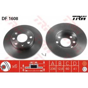 TRW DF1608 АКЦІЯ!!! Диск гальмівний (комп. 2 шт) BEDFORD (GM) - OPEL - PONTIAC (GM) - VAUXHALL Astra Van/Ascona