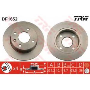 TRW DF1652 Диск тормозной FORD, передн. (пр-во TRW)
