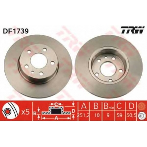 TRW DF1739 Тормозной диск
