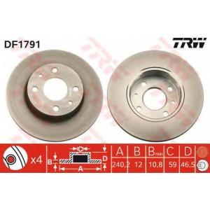 TRW DF1791 Тормозной диск Фиат Премио