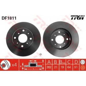 TRW DF1811 Тормозной диск