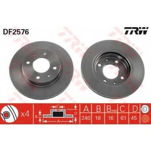 TRW DF2576 Тормозной диск