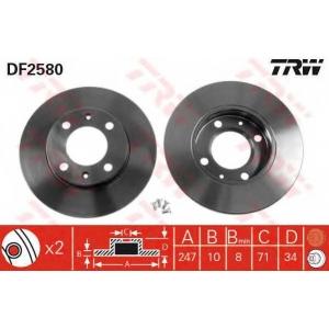 TRW df 2580 Диск тормозной
