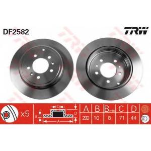 TRW DF2582 Диск тормозной PEUGEOT, задн. (пр-во TRW)
