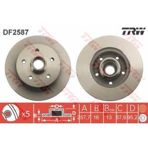 TRW DF2587 Тормозной диск