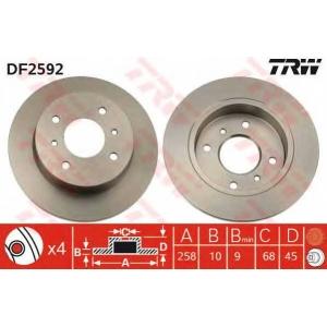 TRW DF2592 DF2592  TRW - Гальмівний диск