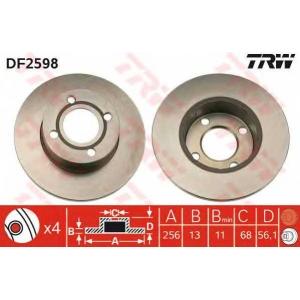 TRW DF2598 Тормозной диск