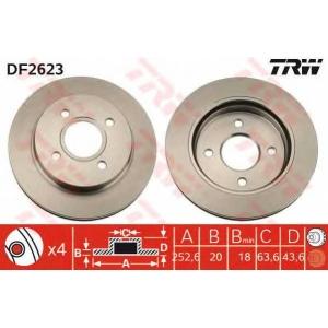 TRW DF2623 Диск тормозной FORD MONDEO, задн., вент. (пр-во TRW)