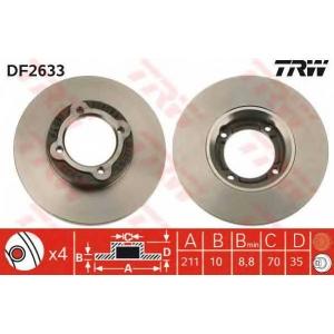 TRW DF2633 Тормозной диск Дайхатсу