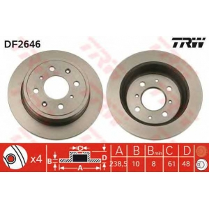 TRW DF2646 Тормозной диск