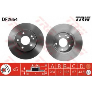 TRW DF2654 Тормозной диск