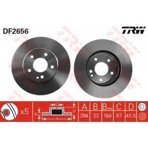 TRW DF2656 Диск тормозной MB C-CLASS передн., вент. (пр-во TRW)