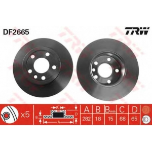 TRW DF2665 DF2665  TRW - Гальмівний диск