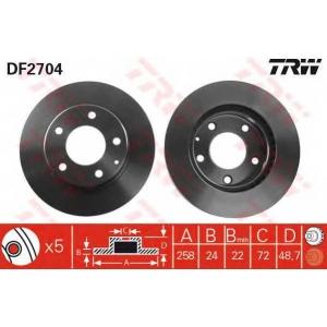 Тормозной диск df2704 trw - MAZDA MX-6 (GE) купе 2.0