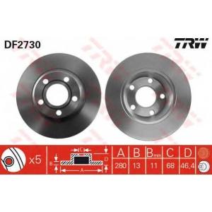 TRW DF2730 DF2730  TRW - Гальмівний диск