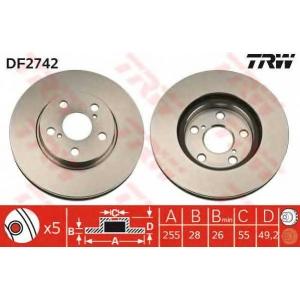 TRW DF2742 диск тормозной
