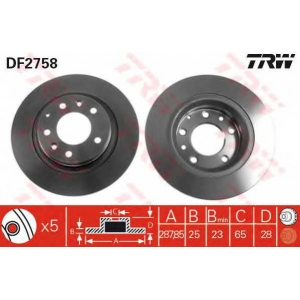 TRW DF2758 DF2758  TRW - Гальмівний диск
