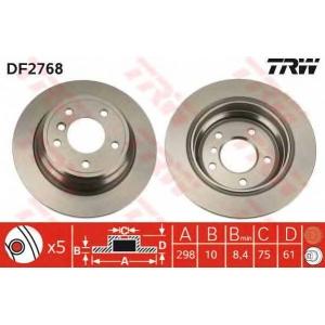 TRW DF2768 Диск тормозной BMW 5 задн. (пр-во TRW)