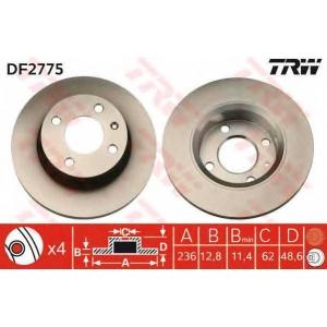 TRW DF2775 Тормозной диск