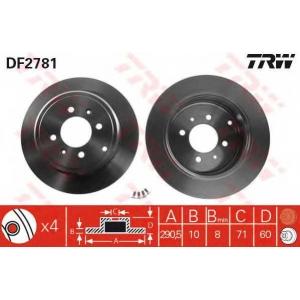 TRW DF2781 АКЦІЯ!!! Диск гальмівний (комп. 2 шт) PEUGEOT 406/406 Coupe