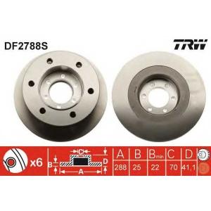 TRW DF2788S Тормозной диск