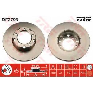 TRW DF2793 Передние тормозные диски МБ407-510
