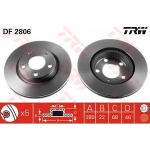 TRW DF2806 DF2806  TRW - Гальмівний диск