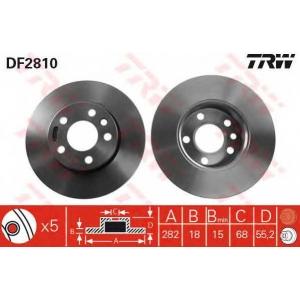 TRW DF2810 Диск тормозной VW T4, передн. (пр-во TRW)