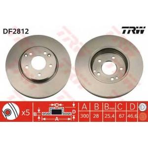 TRW DF2812 Диск тормозной MB E-CLASS передн., вент. (пр-во TRW)
