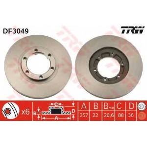 TRW DF3049 Тормозной диск Исузу Ельф