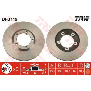 TRW DF3119 Тормозной диск