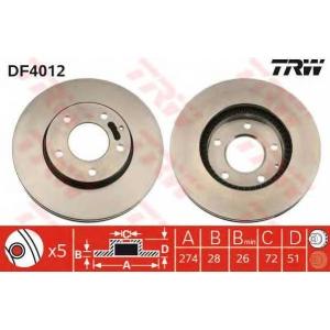 ��������� ���� df4012 trw - MAZDA XEDOS 9 (TA) ����� 2.5 24V