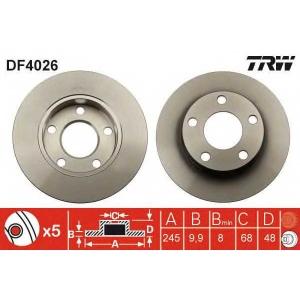 TRW DF4026 Тормозной диск