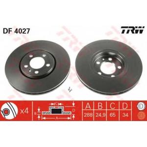 TRW DF4027 Тормозной диск