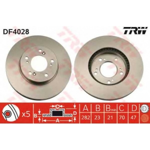 TRW DF4028 Тормозной диск