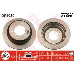 TRW DF4030 Диск тормозной OPEL FRONTERA задн., вент. (пр-во TRW)