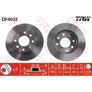 TRW DF4032 Диск тормозной