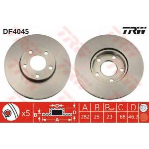 TRW DF4045 DF4045  TRW - Гальмівний диск
