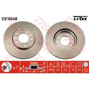 TRW DF4048 Диск тормозной OPEL ASTRA передн., вент. (пр-во TRW)