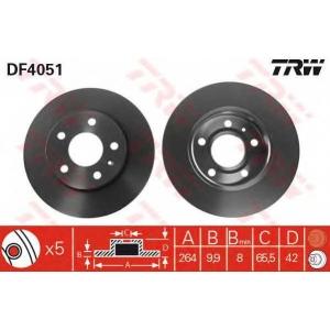 TRW DF4051 Диск тормозной OPEL ASTRA H (пр-во TRW)