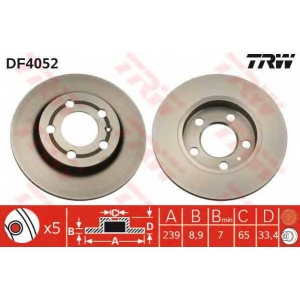 TRW DF4052 Тормозной диск