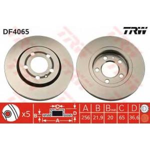 TRW DF4065 Диск гальмівний (комп. 2 шт) AUDI/SEAT/VW A3/Leon/Toledo/Bora/Golf IV R \97>>